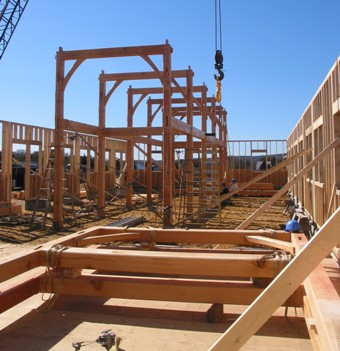 Timber Barn Raising