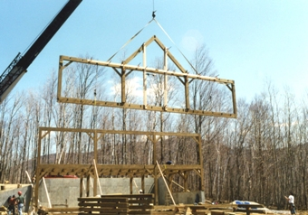 Constructing a New England Barn