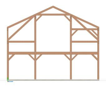 Gambrel Timber Frame