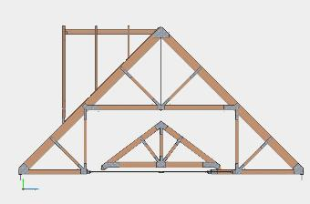 Timber and Steel Truss