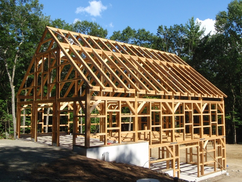 Post and beam barns on pinterest post and beam barns for Post beam barn plans