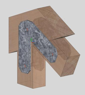 Diamond Plate Side Tool Box Timber Frame Gusset Plates