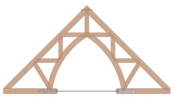 Timber Truss with Steel Rod