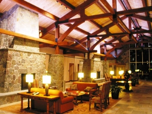 Double Tree Lobby Timber Frame