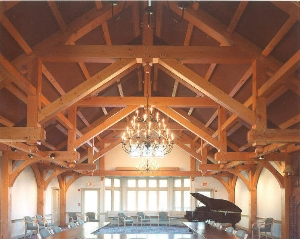 Hammer Beam Timber Trusses - Trapp Family Lodge