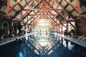Indoor Pool Timber Ceiling Beams