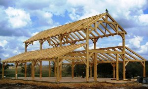 Timber Framed Barn inTexas