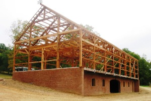 Post and Beam Barn Frame