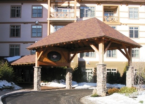 Wood Porte Cochere