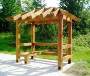 Timber Framed Park and Ride Bus Shelter