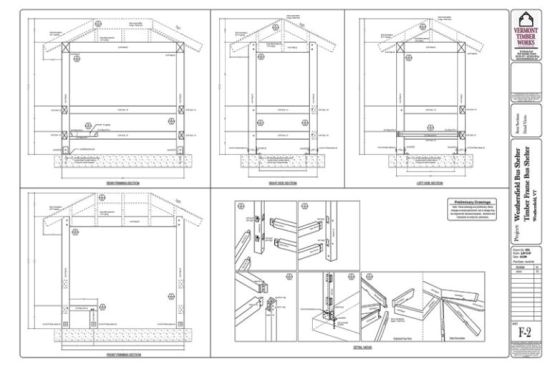 Plan Elevation Section Of Bus Stop : Bus stop shelter dimensions imgkid the image