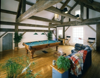 Antique Post & Beam Home Great Room