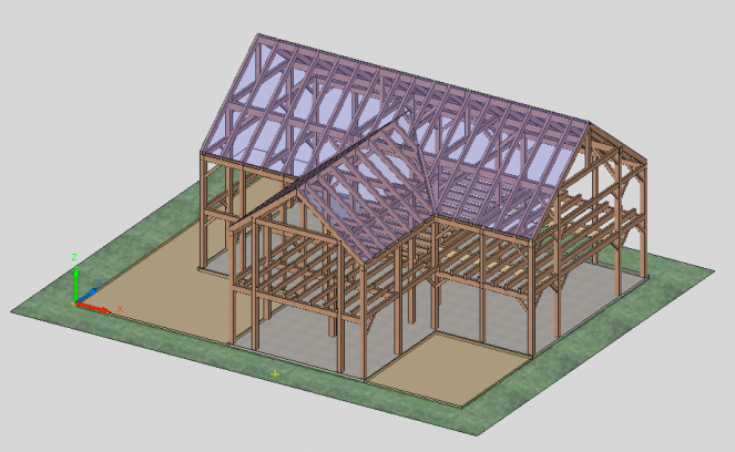 dutch barn concept, post and beam barn