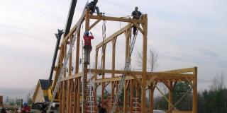 Raising a Post & Beam Barn