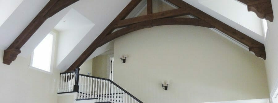 Pavilion Oak Timber Trusses in Quebec