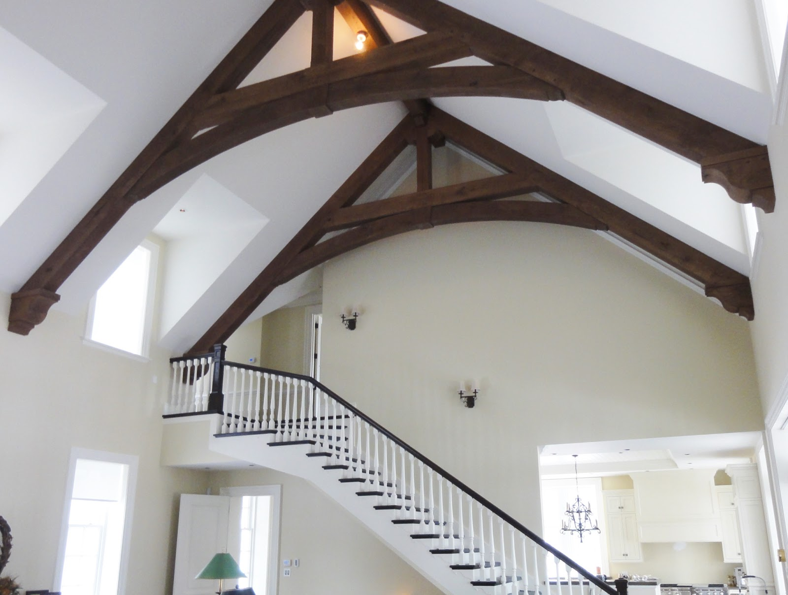 Pavilion Oak Timber Trusses in Quebec
