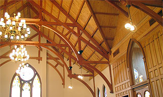 timber frame churches, timber frame chapels
