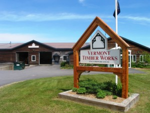 sign outside vermont timber works in north springfield, vermont