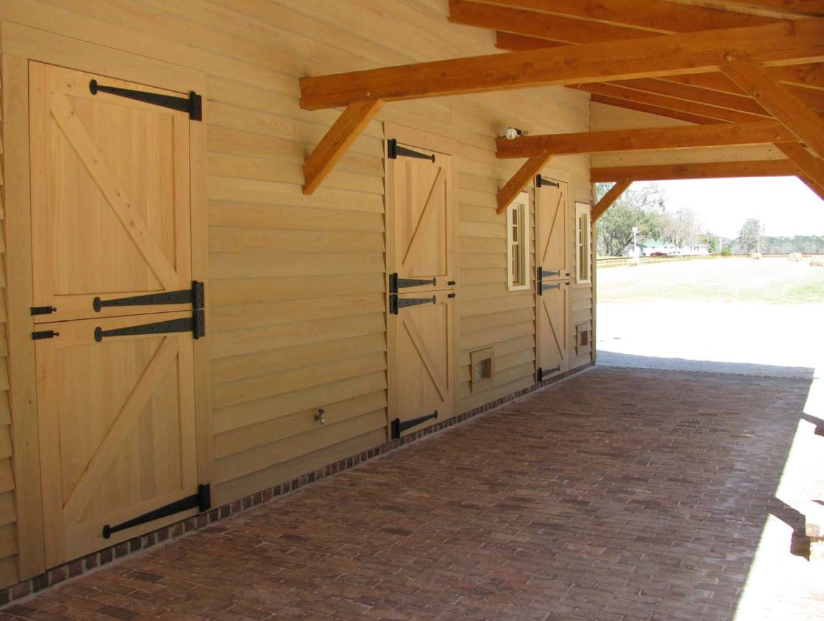 Carolina horse barn handcrafted timber stable for Horse stall plans