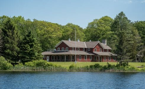 Exterior of Deer Lake Dining Hall