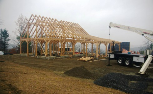 Completed Timber Frame Barn