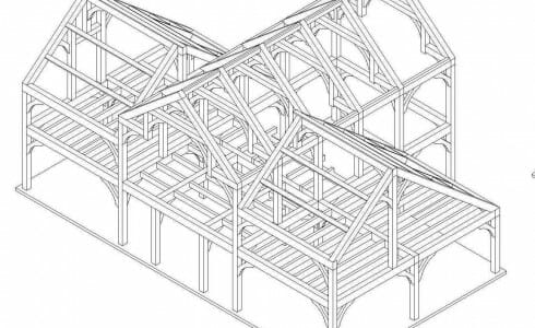 Barn Frame Drawing