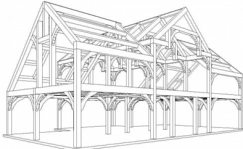 3D Design of a Barn Frame