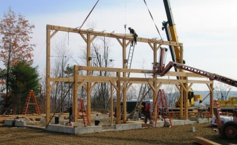 Timber Frame Barn Raising