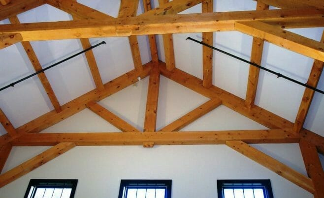 Beamed Ceiling with King Post Truss