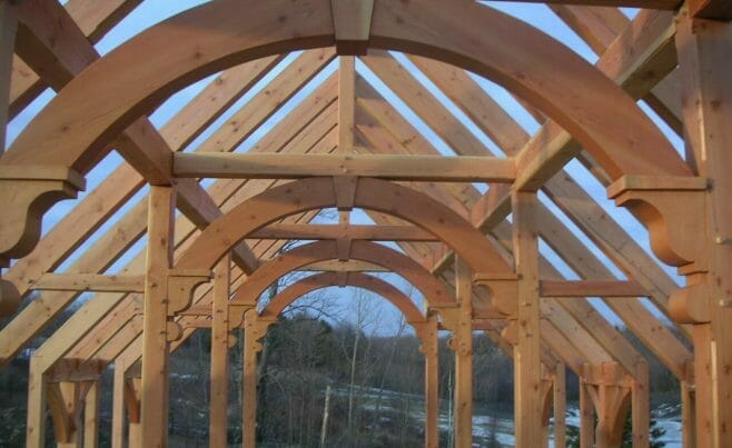 Arched Home Beams