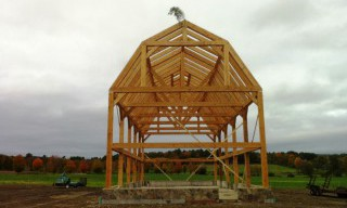 Completed Post & Beam Barn Frame