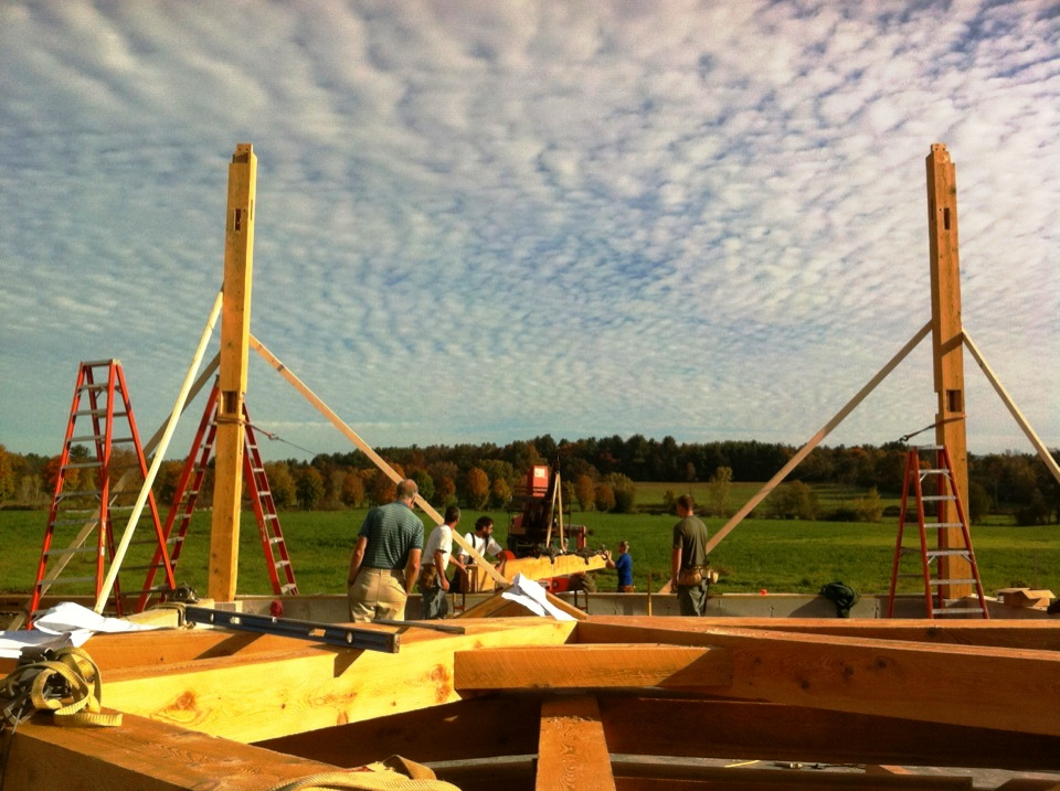 Gambrel Barn Frame | Post & Beam Construction