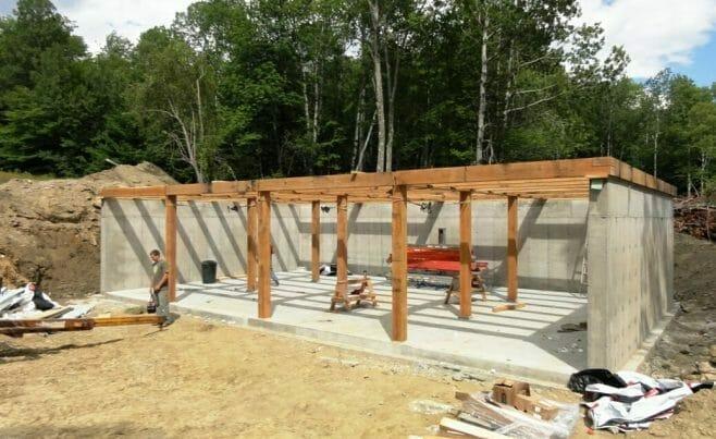 Timber Frame Base Assembly