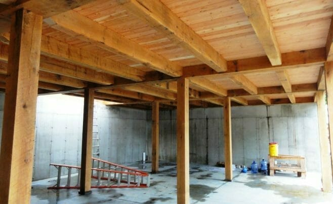 Barn Interior Ceiling Beams