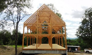 Completed Geremia Post & Beam Barn Exterior