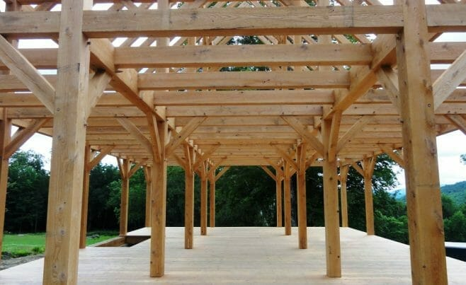 The Completed Hemlock Frame Interior