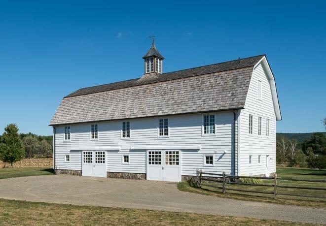 Exterior of Eberhart Gable Barn in Upstate NY