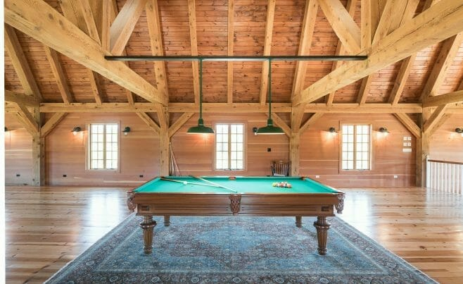 Pool Table in the Eberhart Gambrel Barn