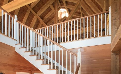 Interior of the Eberhart Gambrel Barn