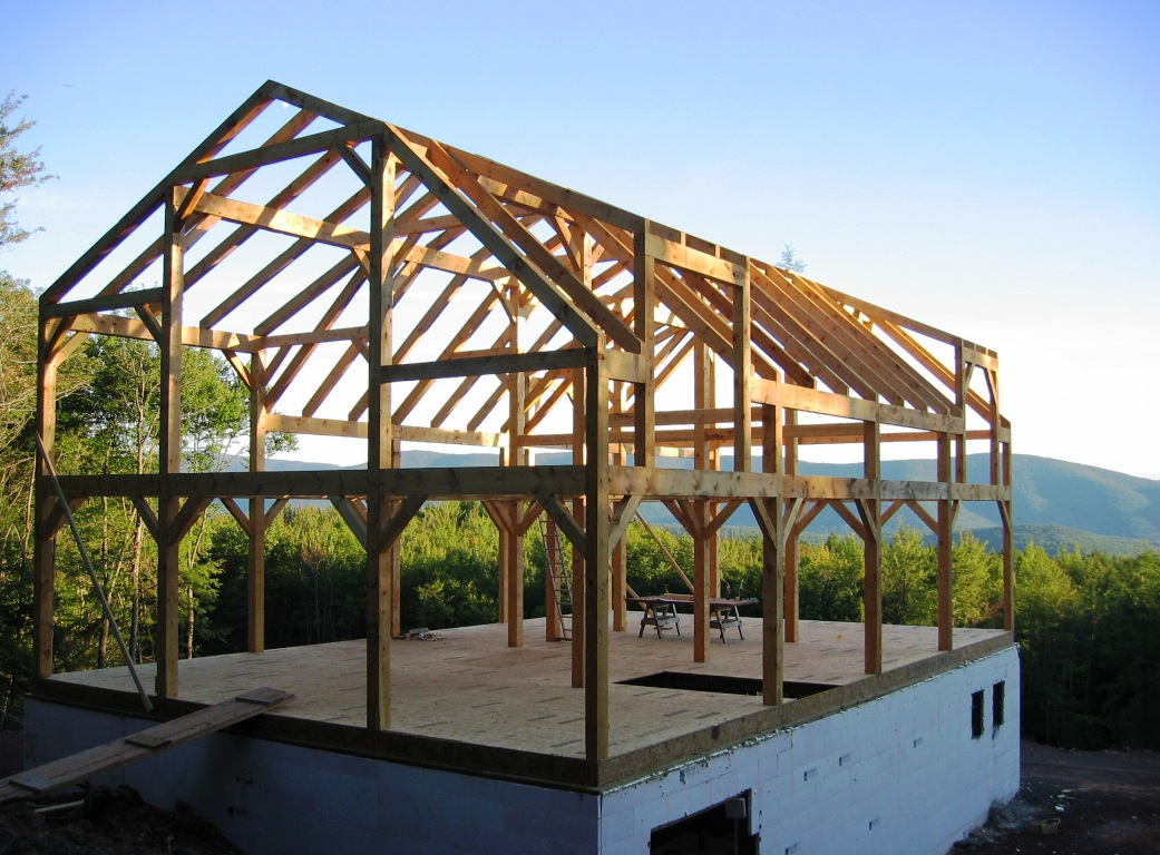 timber frame barn - photo #1
