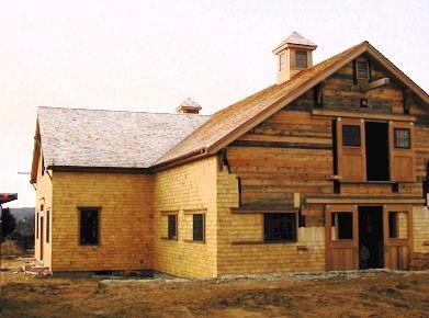 Timber Barn Under Construction