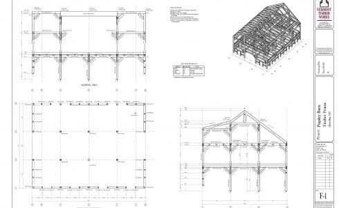 Plans for the Construction of the Pugsley Barn In New Hampshire