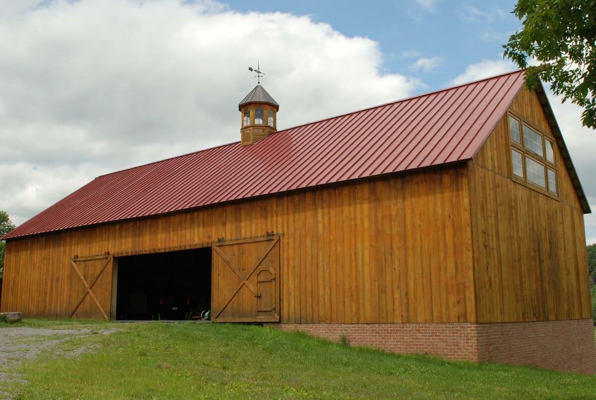 Traditional Timber Frame Barn