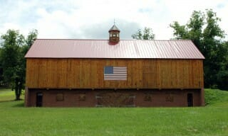 Country Timber Frame Barn Exterior