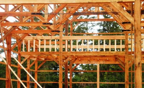 Timber Framed Rail for Loft Area