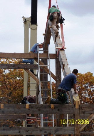 Setting the Timber Frame