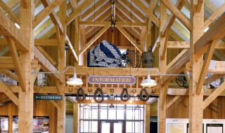 Post & Beam Barn Entry