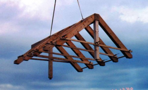 Roof Rafters Flying