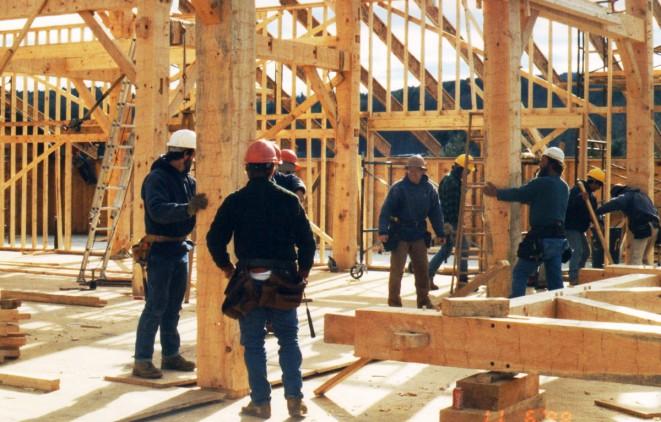 Setting Timber Bents