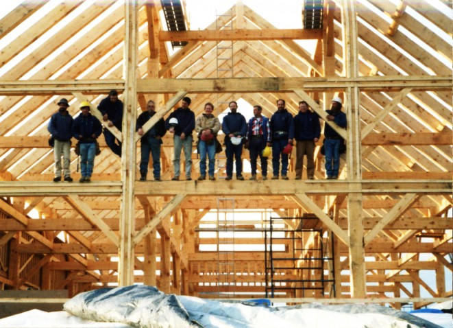 The Crew of Vermont Timber Works